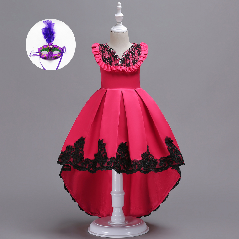 1465975bdaa7f 3-15Y Children Long Formal Evening Gowns Party Wear Blue Pink Red Junior  Big Girls Dresses Online Teenage Girls Dress 14 Years