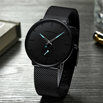 9bde6027f8e0 Hombres relojes Top marca de lujo CRRJU moda Casual cuarzo analógico reloj  impermeable de los deportes de los hombres reloj de negocios reloj Masculino