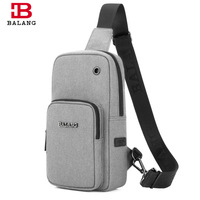 BALANG Brand Men Water Rsistant Chest Pack Teenagers Short Trip Crossbody Bag Women Casual Sling Bags