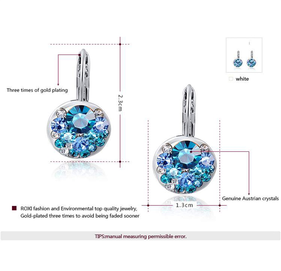 HTB1Ax9LajzuK1RjSsppq6xz0XXaF - Luxury Ear Stud Earrings For Women Fashion Round Charm Jewelry Romantic Lovely Accessories Gift Wholesale