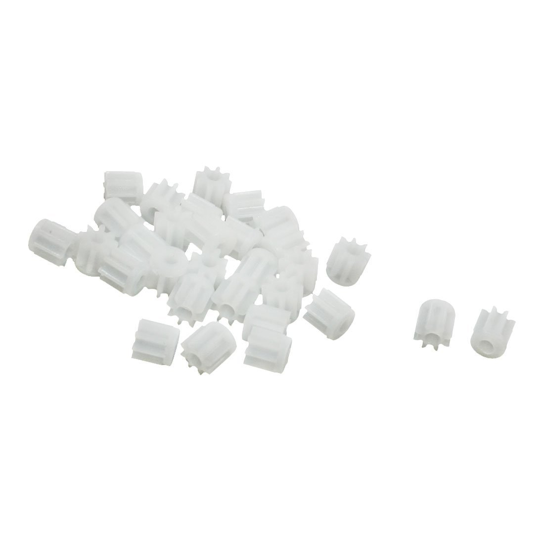 ABKM Hot 30Pcs 0.5 Modulus 8 Teeth Plastic Gear Cog For 2mm Toy Car Motor Shaft