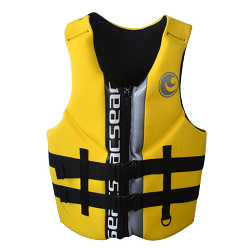 Hisea High Quality Professional Neoprene Adult Life Jackets Thick Water Floating Surfing Snorkeling Fishing Racing Vest Portable chic rhinestone african plate shape pendant necklace and earrings for women