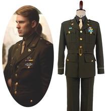 Костюм для косплея Капитана Америки Стива Роджерса Второй мировой войны