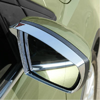 Free Shipping For Ford Kuga Escape 2013 2014 Rearview Mirror Rain Gear Rain Eyebrow ABS Chrome