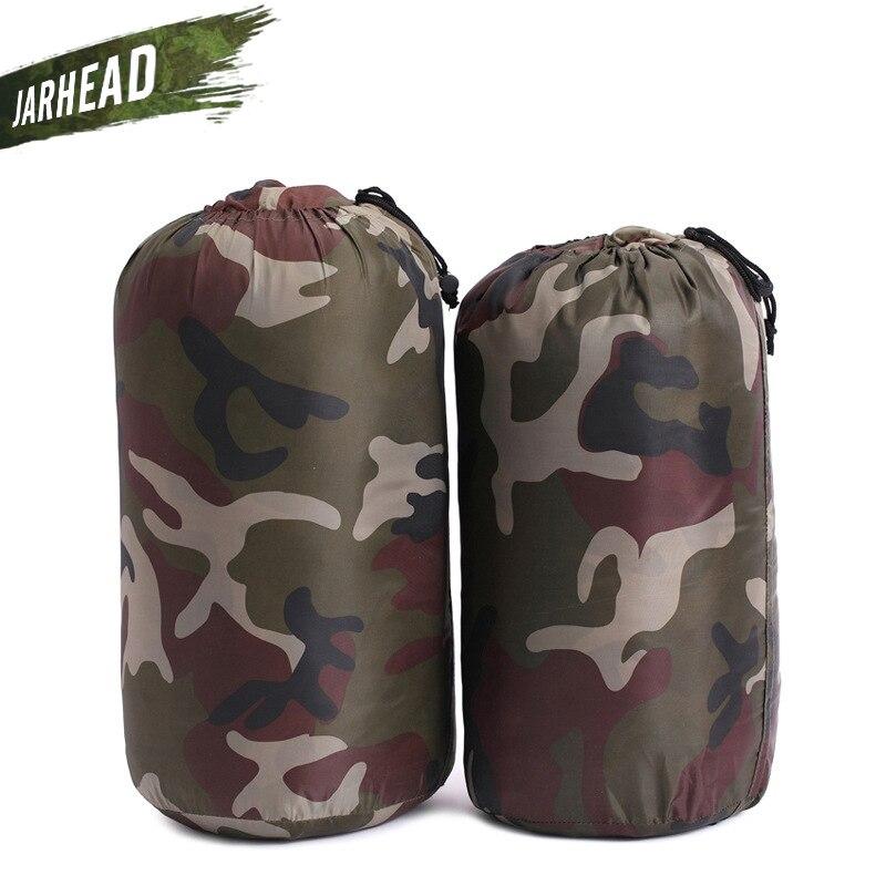 200*60cm Camouflage Polyester Fiber sac de couchage imperméable Camping sac de couchage couvertures randonnée en plein air activité sacs de couchage