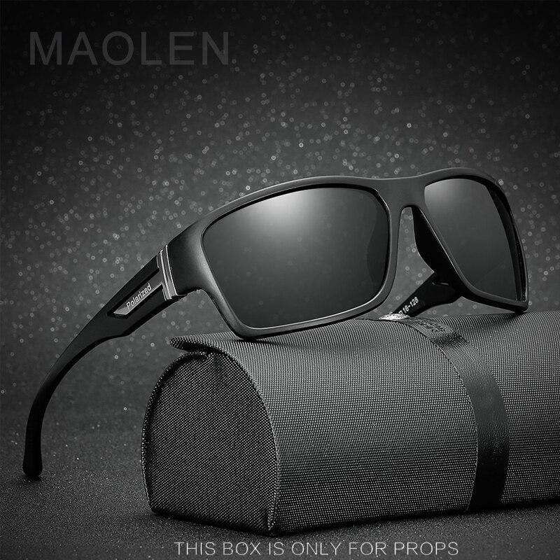 MAOLEN 2018 Hot Sale Polarized Sunglasses Men Sport Sun Glasses For Driving Fishing Golfing Gafas De Sol Hipster Essential