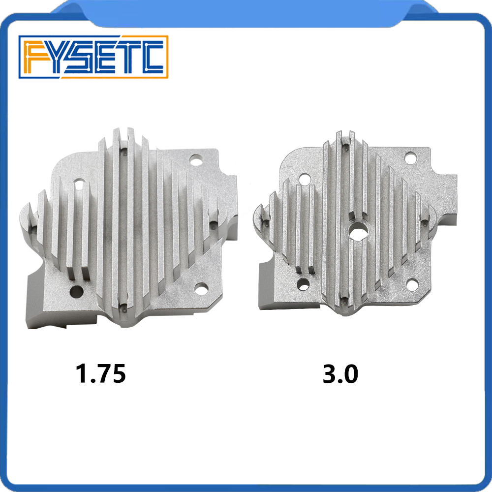 1 unid Titan Aero y V6 Aero disipador de calor de 1,75mm o 3,0mm actualizar Titan extrusora V6 salida Hotend T prusa i3 3D piezas de la impresora