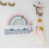 Large Capacity Macaron Rainbow Piggy Bank Natural Wooden Kids Gift Toy Money Storage Box Cute Children's Room Wedding Decoration