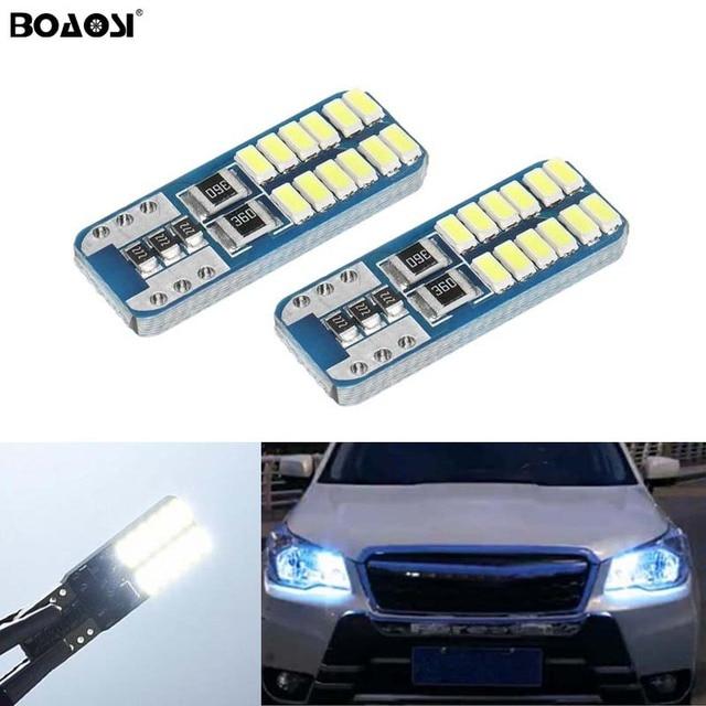 2X W164 T10 W5W 24 LED 3014SMD אורות חניית זווית לא שגיאה עבור סובארו אימפרזה xv פורסטר אאוטבק legacy טרייבקה פיאט