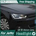 АКД Стайлинга Автомобилей для Volks Wagen Jetta Фар Jetta Mk6 LED Bi Xenon Объектив Высокого Ближнего света фар DRL Парковка Противотуманные Фары