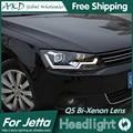 AKD Car Styling para Volks Wagen Faróis Jetta Mk6 Jetta LEVOU Bi Xenon Lente High Low Feixe do farol DRL Estacionamento luz de Nevoeiro