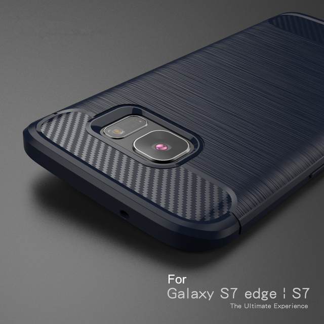 sports shoes ba073 25d23 US $3.8 |For Samsung Galaxy S7 edge case S7 Case Luxury Carbon Fiber  Brushed Texture Soft Silicone TPU case Back Cover anti knock-in Fitted  Cases from ...