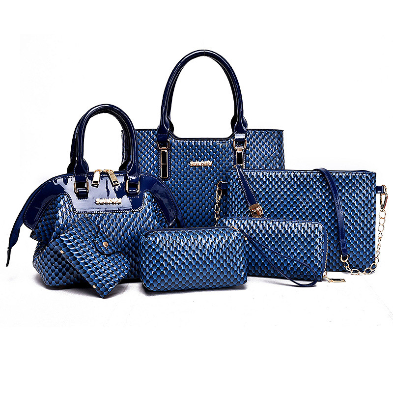 Nouveau sac à main femme américaine célèbre marque Composite sac solide femmes Messenger sacs sac à bandoulière femmes portefeuille 6 pièces/ensemble