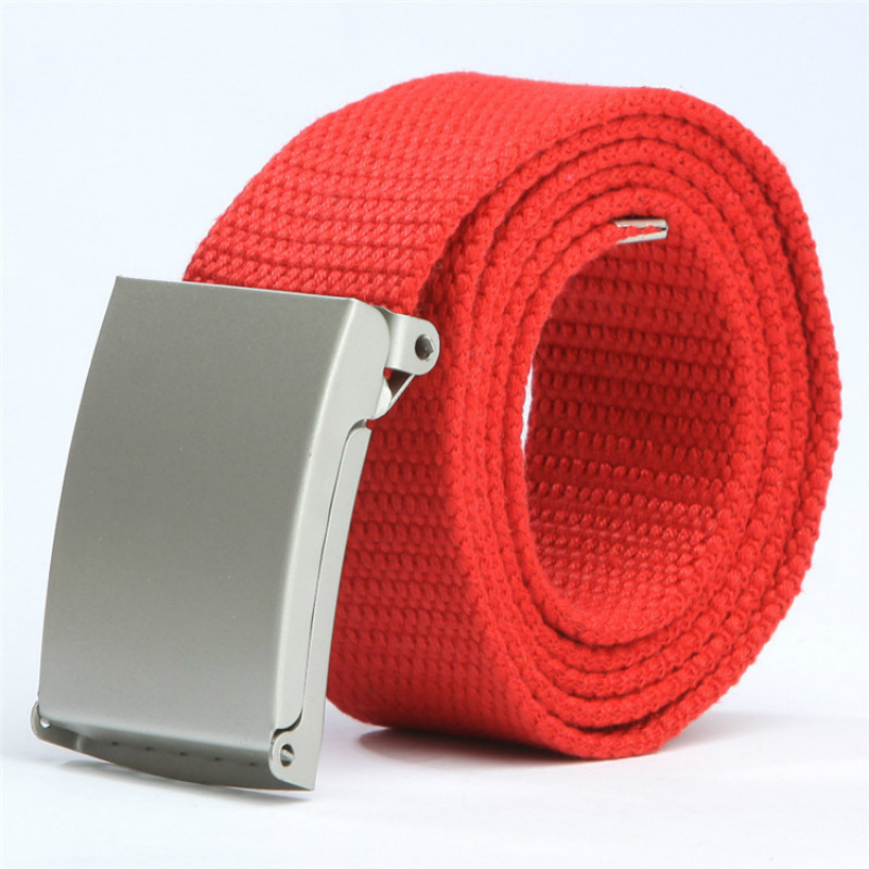 Hot Sale Children's Fashionable Canvas Belts Top Quality Unisex Waistband  Metal Buckle Boys/girls Candy Colors Jeans Belt 80cm