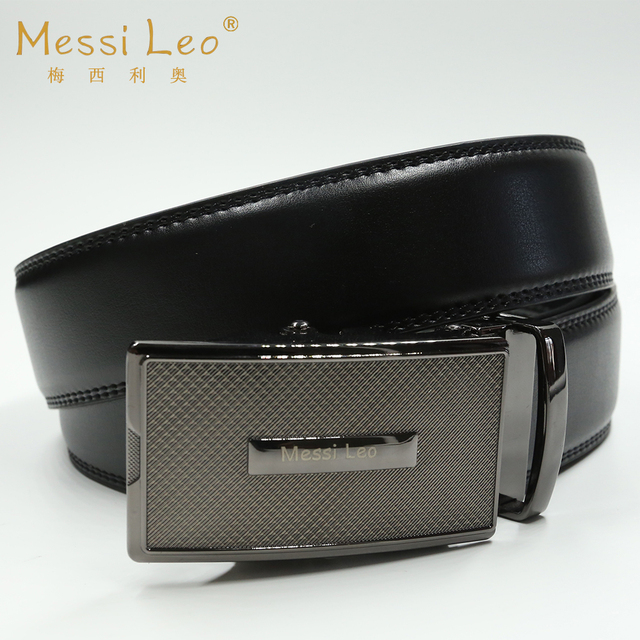Messi Leo Man Belts Genuine Leather Belt Top Cow Automatic Buckle Fashion Casual Soild Belt For Men
