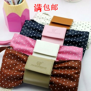 Small bow pencil case cosmetic wallet student supplies stationery box