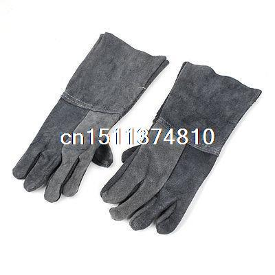 Pair Industrial Faux Leather Heat Resistent Full Finger Gloves for Carpenter pro biker mcs 01a motorcycle racing full finger protective gloves blue black size m pair