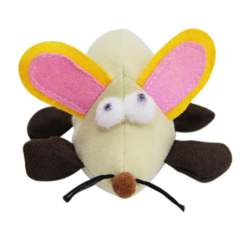 Funny Cat Dog font b Pet b font Cotton Filler Pulling Wire Vibration Toy Shaking Mouse