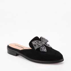 SOPHITINA Handgemachte Maultiere 2019 Fashion Echtes Leder Schuhe Runde Kappe Schmetterling-knoten Kristall Frau Wohnungen Büro Dame Freizeit p56