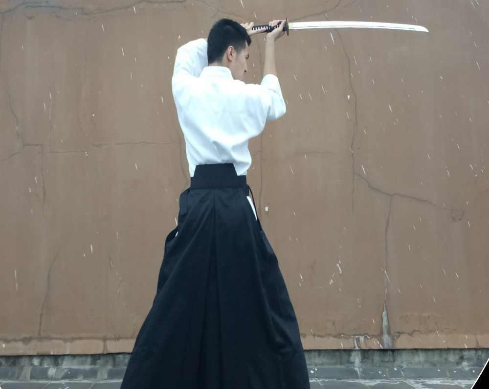 4 色ユニセックスハイグレード剣道制服袴スーツ hapkido 武道用セット黒/ダークブルー/ 白