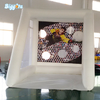 Interactive inflatable soccer kick game football shoot soccer goal sport for outdoor game