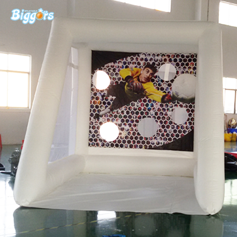 Interactive inflatable soccer kick game football shoot soccer goal sport for outdoor game mzqm inflatable soccer shootout football inflatable football toss game high quality outdoor game inflatable goal for football
