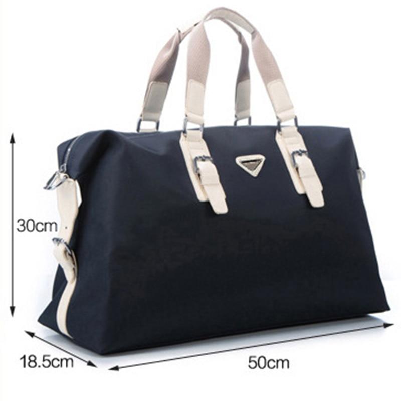 New Large Capacity Nylon Travel Bag Men Hand Luggage Travel Duffel Bag Casual Multifunctional PU Leather Shoulder Travel Bags 4
