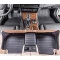 Envío libre de cuero de fibra de alfombra del piso del coche para peugeot 407 sw coupe sedan 2004 2005 2006 2007 2008 2009 2010
