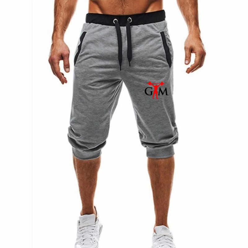 Mens Largas Calças Basculador Casuais Harem Pants Magros Shorts Comfy Macio 3/4 Calças Moletom Homens de Moda de Nova Marca de Verão Calções Masculinos 2018 nova