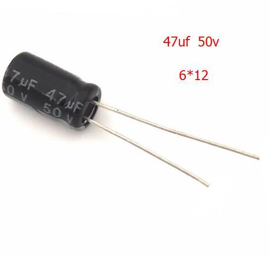 50PCS/LOT Aluminum electrolytic capacitor 47uF 50V 6*12 Electrolytic capac