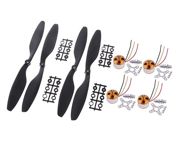 4pcs 2212 1000KV Motors+ 2 pairs 1045 10″ 10 inch Nylon propellers spare parts for DJI F450 F550 RC Drone Quadrocopter FPV