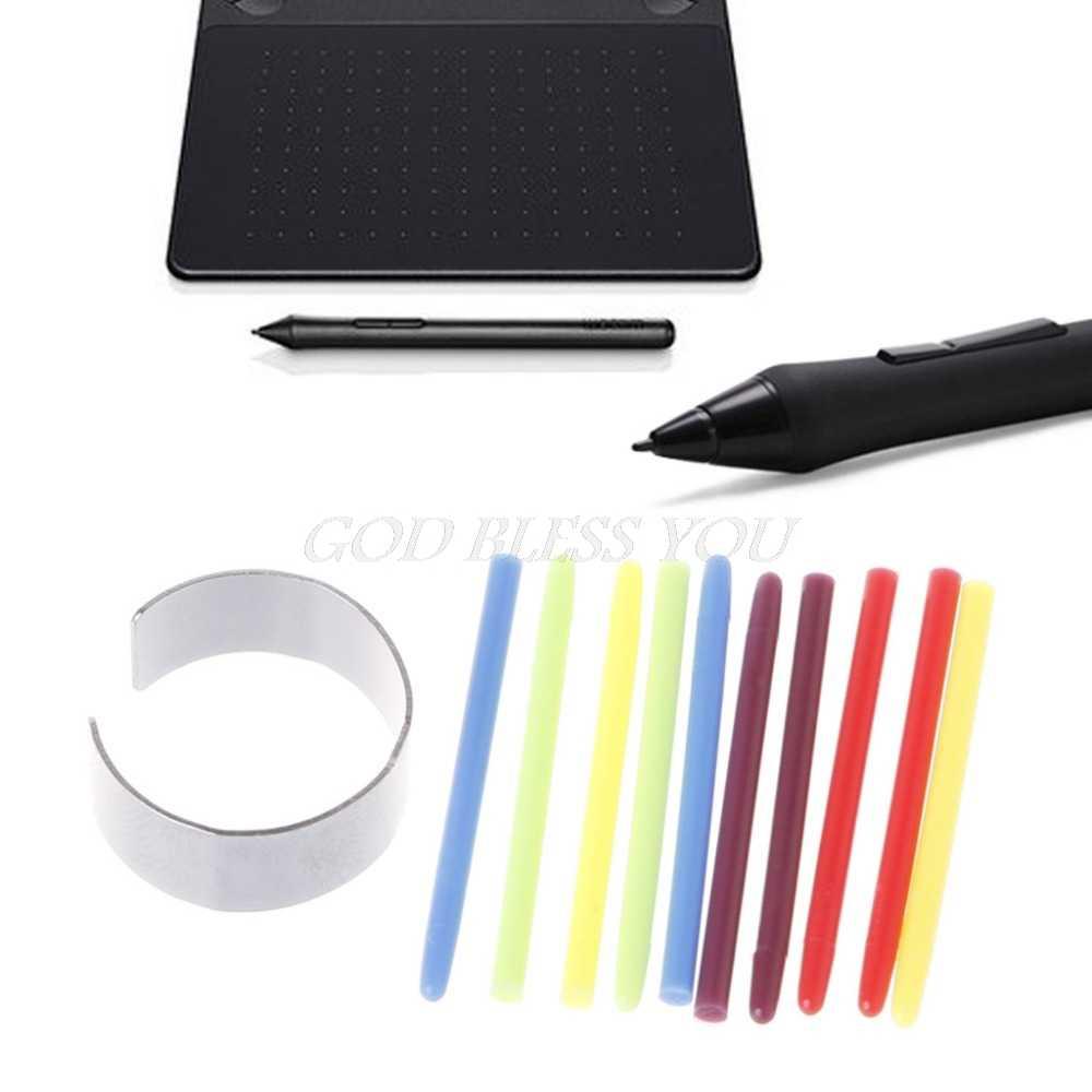 10 個のグラフィック描画パッド標準黒のペンのニブ交換用ワコム竹 Intuos Cintiq 描画パッドペン