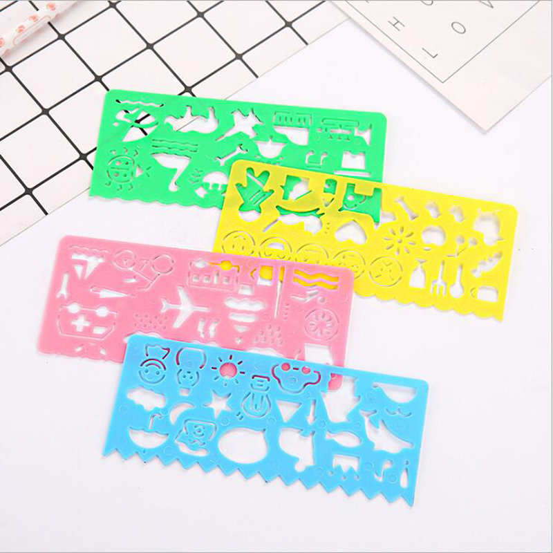 4pcs Beautiful Graphics Scale Symbol Figure Painting Model Candy Color Student Stationery School Office Supplies