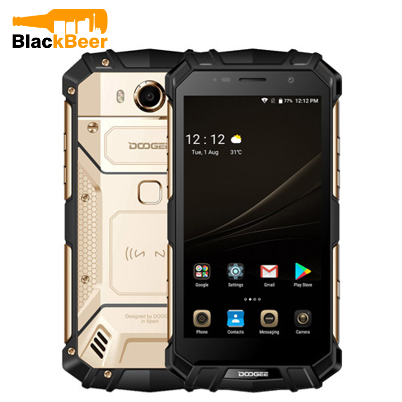 DOOGEE S60 Smartphone IP68 Waterproof Helio P25 Octa Core 6GB+64GB Android7.0 Cellphone 21.0MP 4G LTE Rugged Tough Mobile Phone