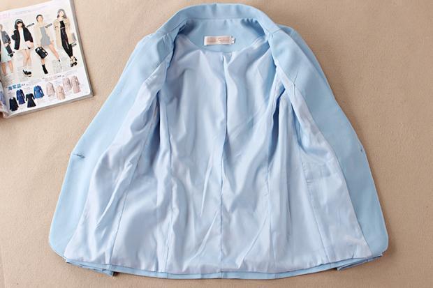 1 Solide Occasionnel Polyester Veste Femmes Décontractée Couleur Deux Version Petit Mince La D'été pièce Coréenne De Nouveau Costume 6q5TAT