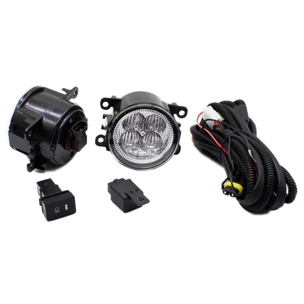 Pour CITROEN C4 Picasso UD _ H11 faisceau de câbles prises interrupteur de connecteur de fil + 2 antibrouillard DRL pare-chocs avant 5D lentille lampe à LED