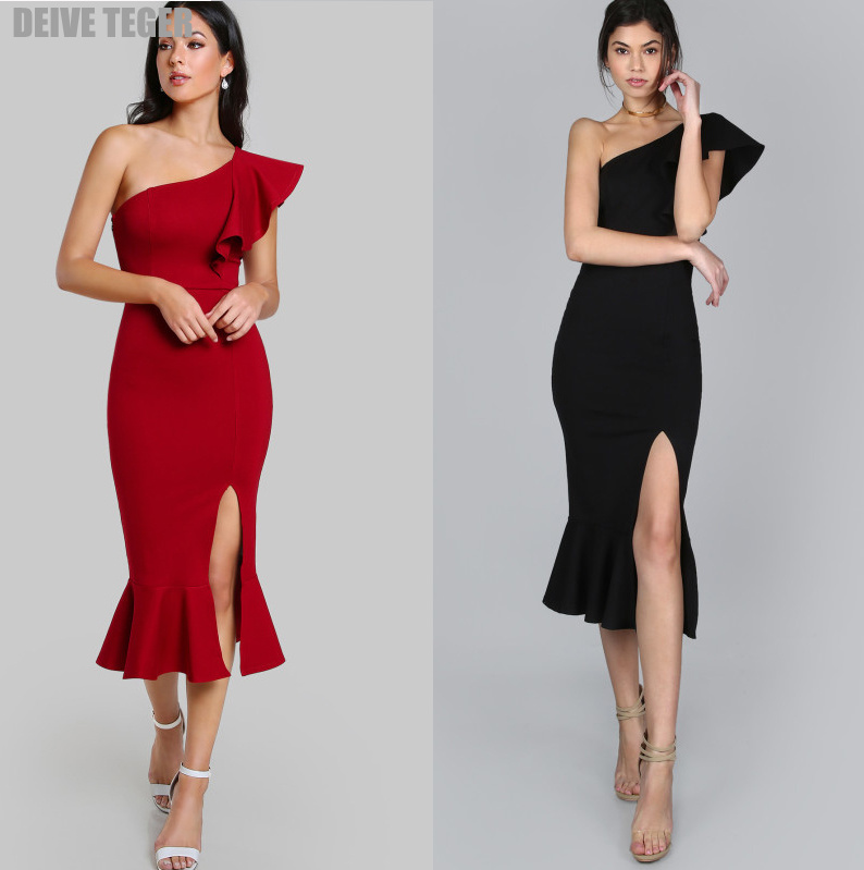 DEIVE TEGER Women Spring Autumn Evening Party Club Wear Bodycon Sexy mesh Sleeveless vestidos Dress  HL3387