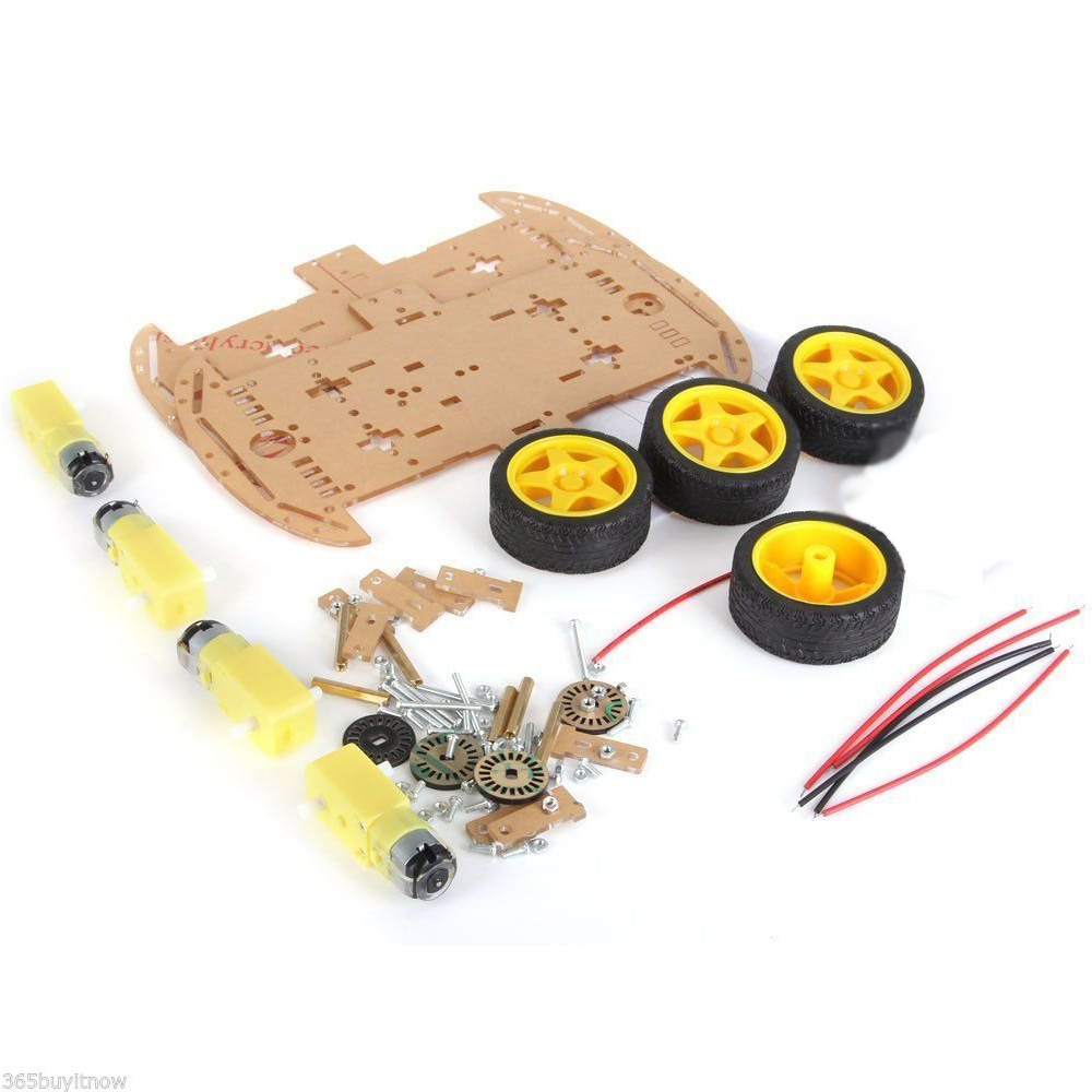 4-wheel Robot Smart Car Chassis Kits car with Speed Encoder