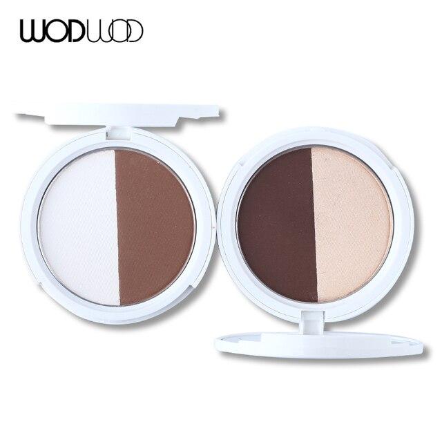 Marca de Maquillaje Contorno Bronceador Cosméticos Bronceadores Resaltadores Face Contour Palette 2 Color Set de Maquillaje
