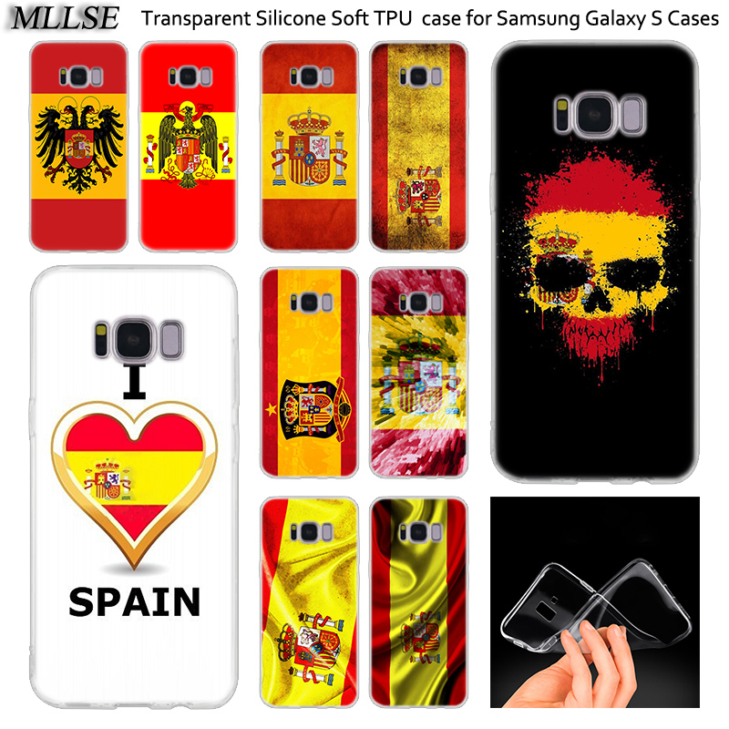 >Spain <font><b>Spanish</b></font> flag Soft Silicone Case For Samsung Galaxy Note 10 Plus S8 S9 S10 Plus 5G S6 S7 Edge S5 S10e Note 5 Fashion Cover