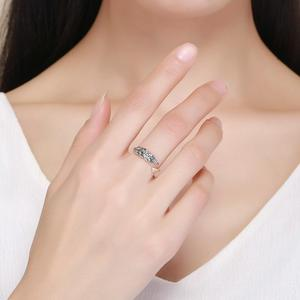 Image 4 - 華やかな葉 925 スターリングシルバー調節可能なリング女性のファッションジュエリーバレンタインデーのギフト