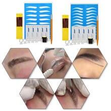 Инструменты для макияжа и красоты, 1 набор, 3D Профессиональный Перманентный микроблейдинг, комплекты для обучения татуировке, набор для татуировки бровей