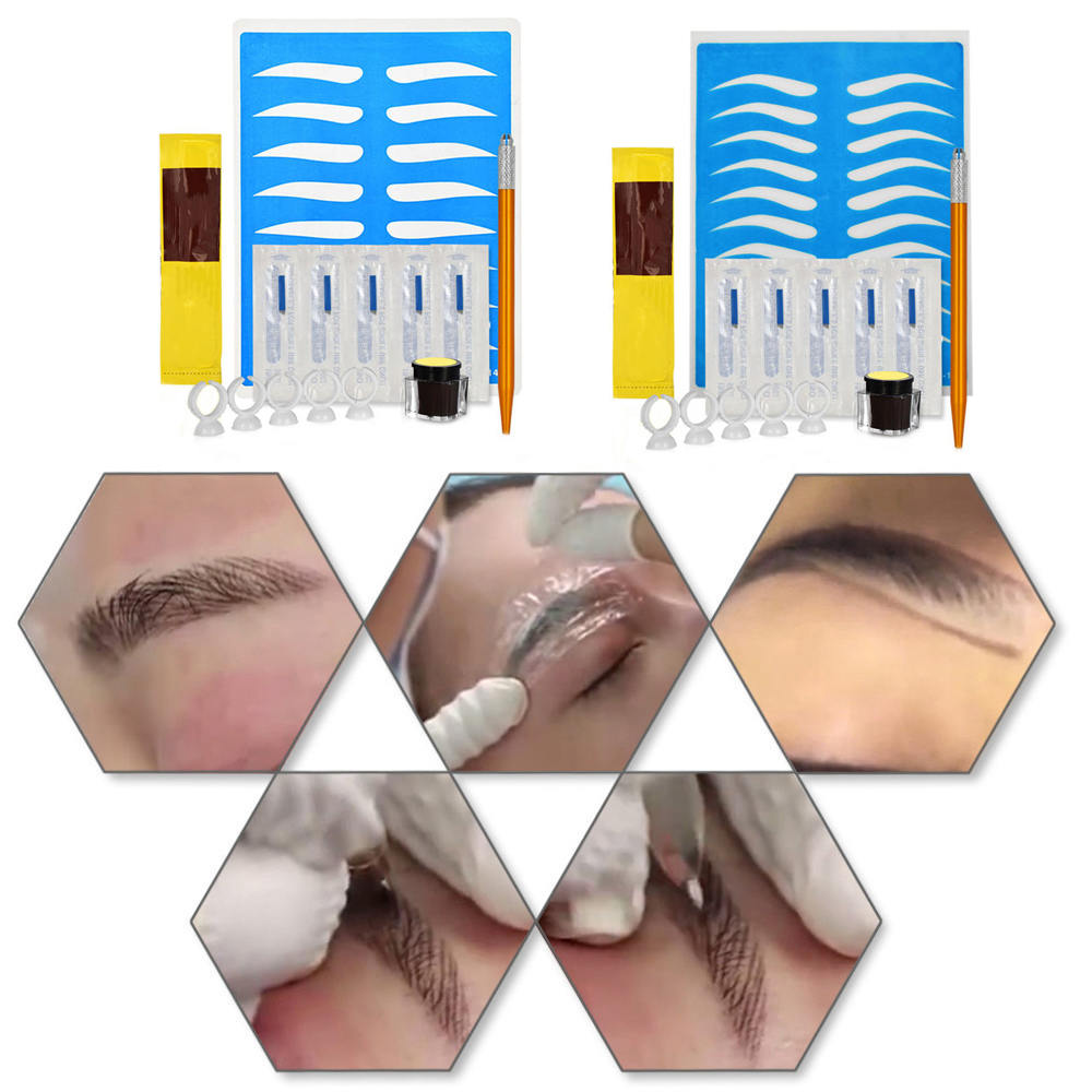 Makeup Beauty Tools 1 Set 3D Professional Permanent Microblading TattooTraining Kits Eyebrow Tattoo Practice Kit