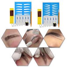 Makijaż przybory kosmetyczne 1 zestaw 3D profesjonalne zestawy do tatuażu permanentnego Microblading tatuaż na brwi zestaw do ćwiczeń tanie tanio HB05459A1 Tatuaż zestawy microblading set tattoo kit tattoo set tattoo kit professional microblading kit kit microblading