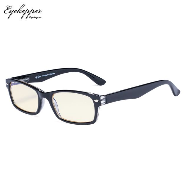 CG055 SpringHinges UV Protection, Anti Glare Anti Blue Rays,Scratch Resistant Lens Yellow Tinted Lenses Computer Reading Glasses