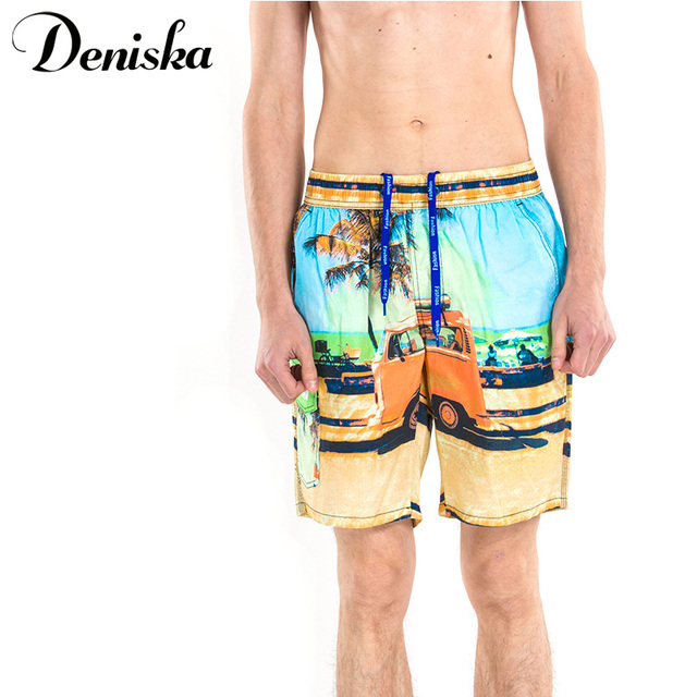 2017 Summer Casual sexy for men brand printed boardshort shorts luxury quick drying bramuda men's beachsshort short pants