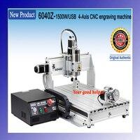 220V 110V New USB Mach3 4 Axis 6040 1500W CNC Router Engraver Engraving Machine