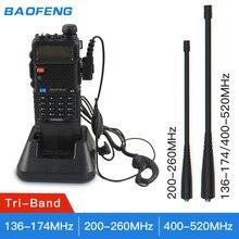 2019 Baofeng UV 5R tri band UV 5RX3 BF R3 el telsizi 136 174MHz 220 260MHz 400 520MHz 3800Mhz alıcı verici radyo