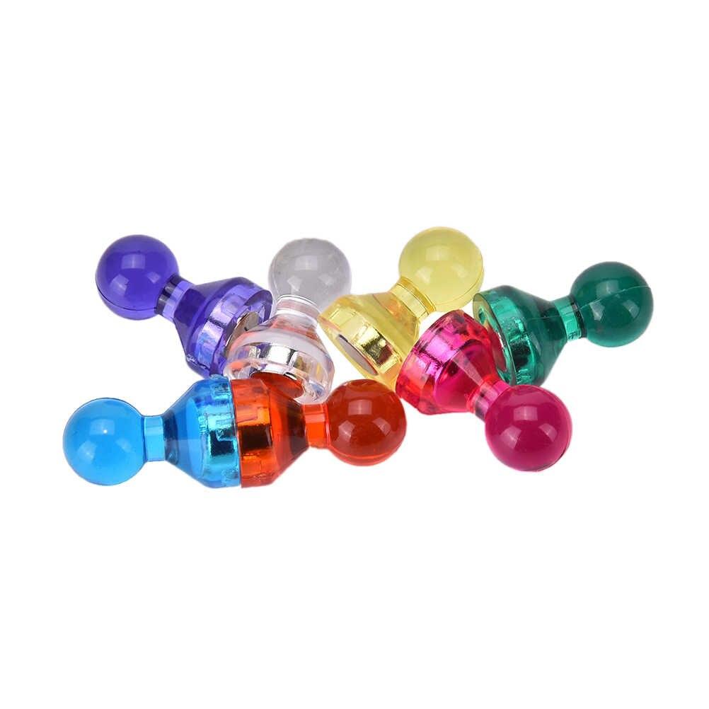 Strong แม่เหล็ก Thumbtacks Neodymium Noticeboard Skittle PIN แม่เหล็ก DIY ตู้เย็นไวท์บอร์ดสีสุ่ม 10 pcs
