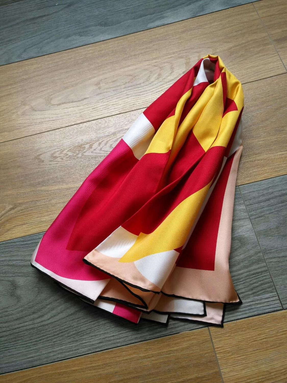 2019 new arrival fashion elegant  colorful  pattern  100% silk scarf 90*90 cm square shawl twill wrap for women  free shipping